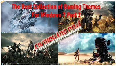 Free Download Themes The Best Collection of Gaming For Windows 7