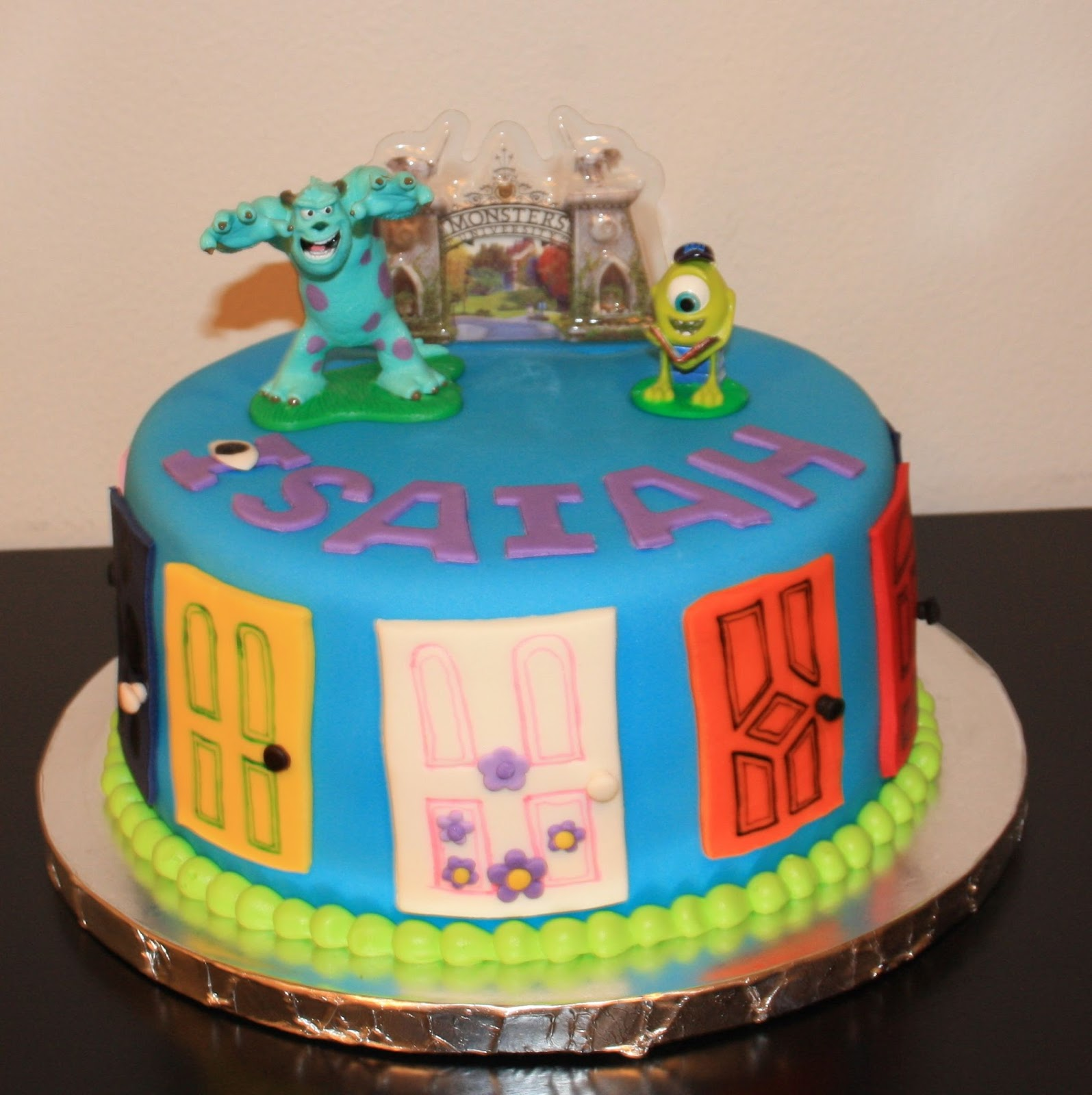 Jacquelines Sweet Shop Monsters Inc Birthday Cake