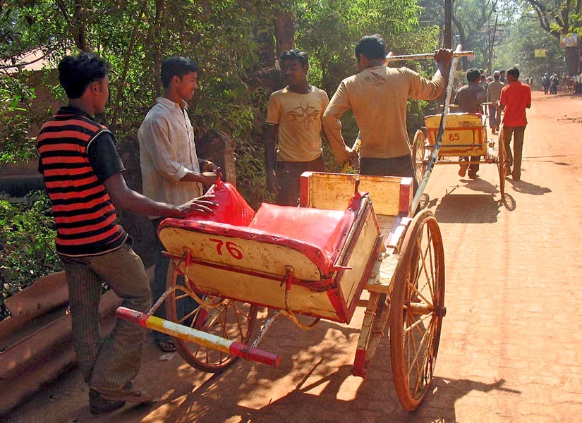 Hand Pulled Rickshaw drivers