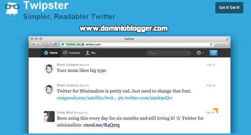 una manera minimalista de ver Twitter con Twipster