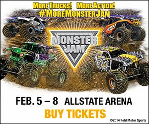 WIN 4 Tickets to Monster Jam at Allstate Arena on Thurs 2/5 or Fri 2/6!