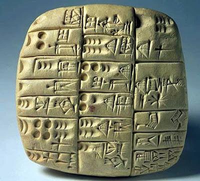 THOSE CUNEIFORM TABLETS STOLEN FROM IRAQ… AGAIN… Tablilla-sumeria-con-escritura-cuneiforme