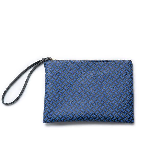 blue zara clutch