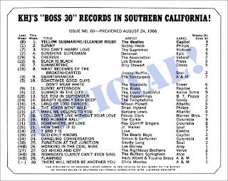KHJ Boss 30 No. 60 - August 24, 1966