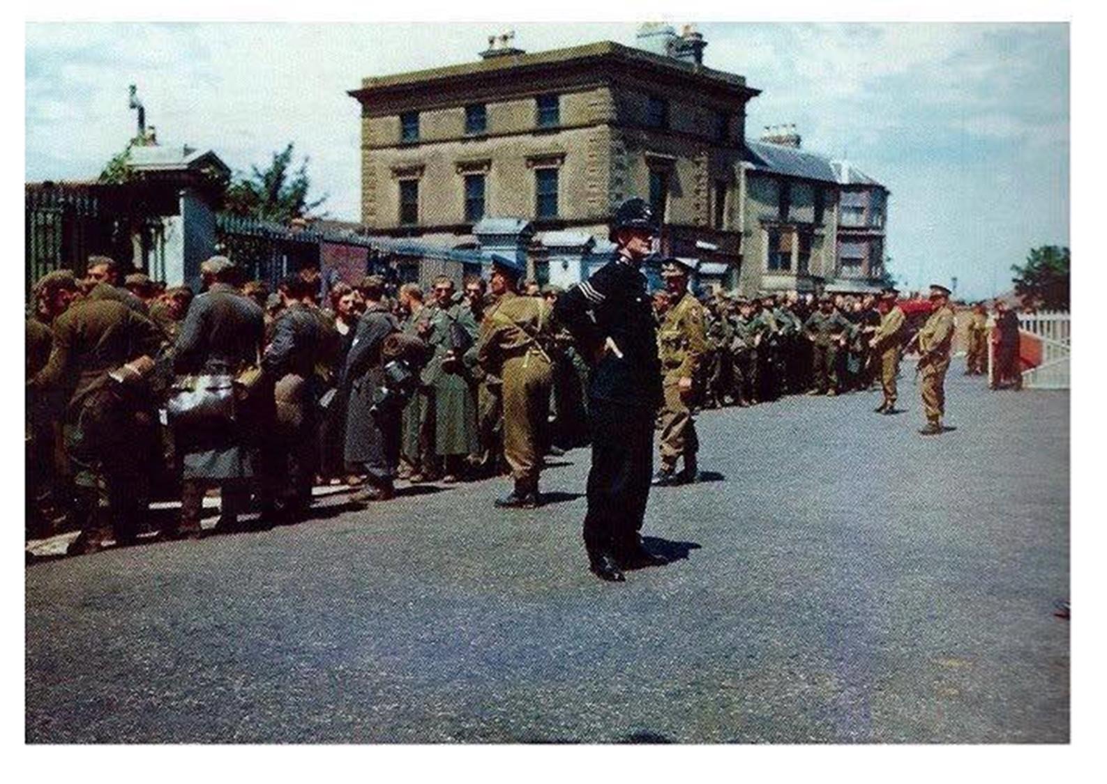 German POWs outside Gosport Station
