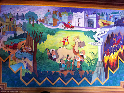 Mr. Toad's Wild Ride Disneyland queue tapestry mural