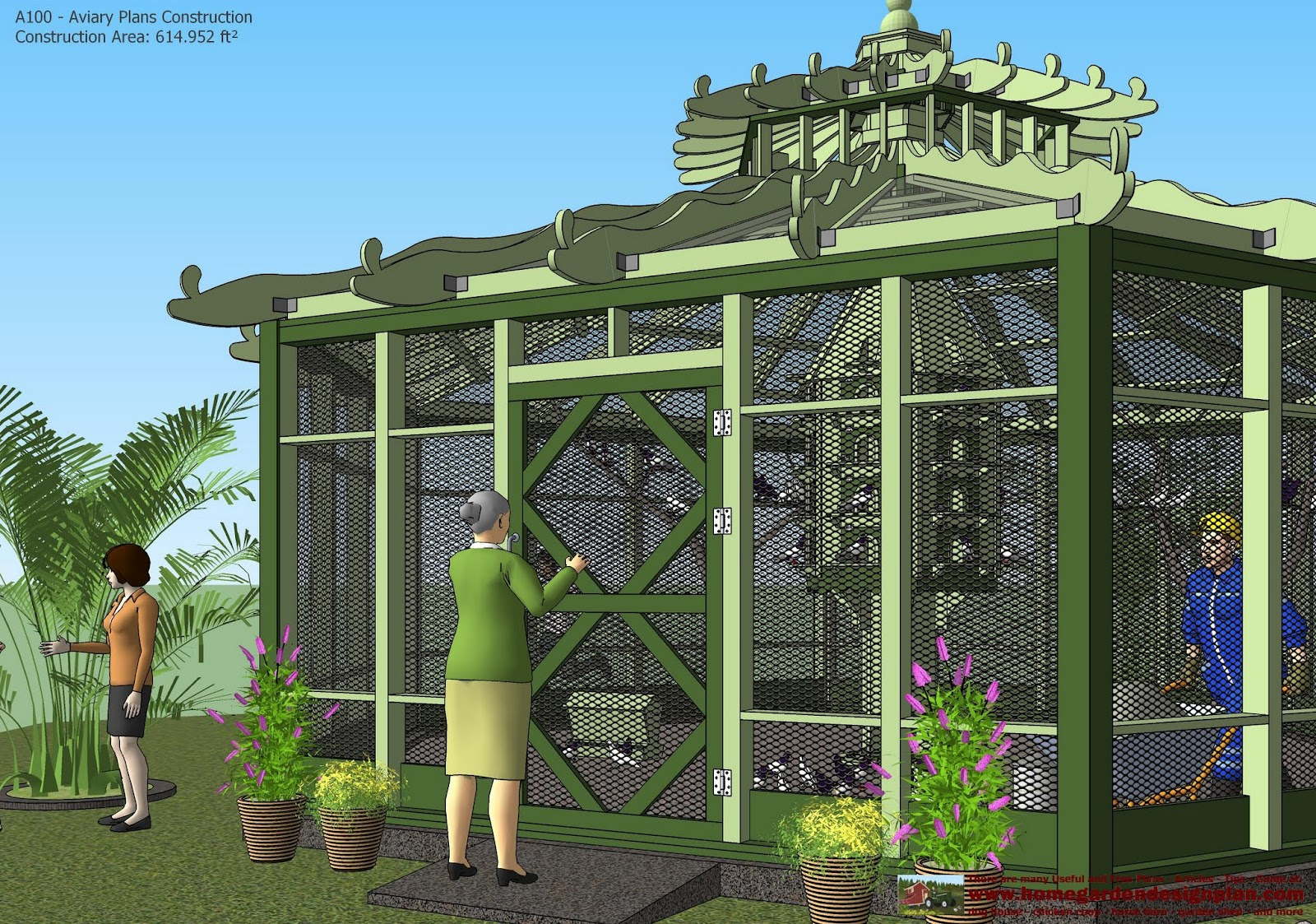 For chick coop a100 aviary plans construction aviary for Building a quail house