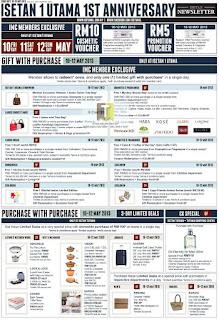 Isetan 1 Utama Anniversary Sale