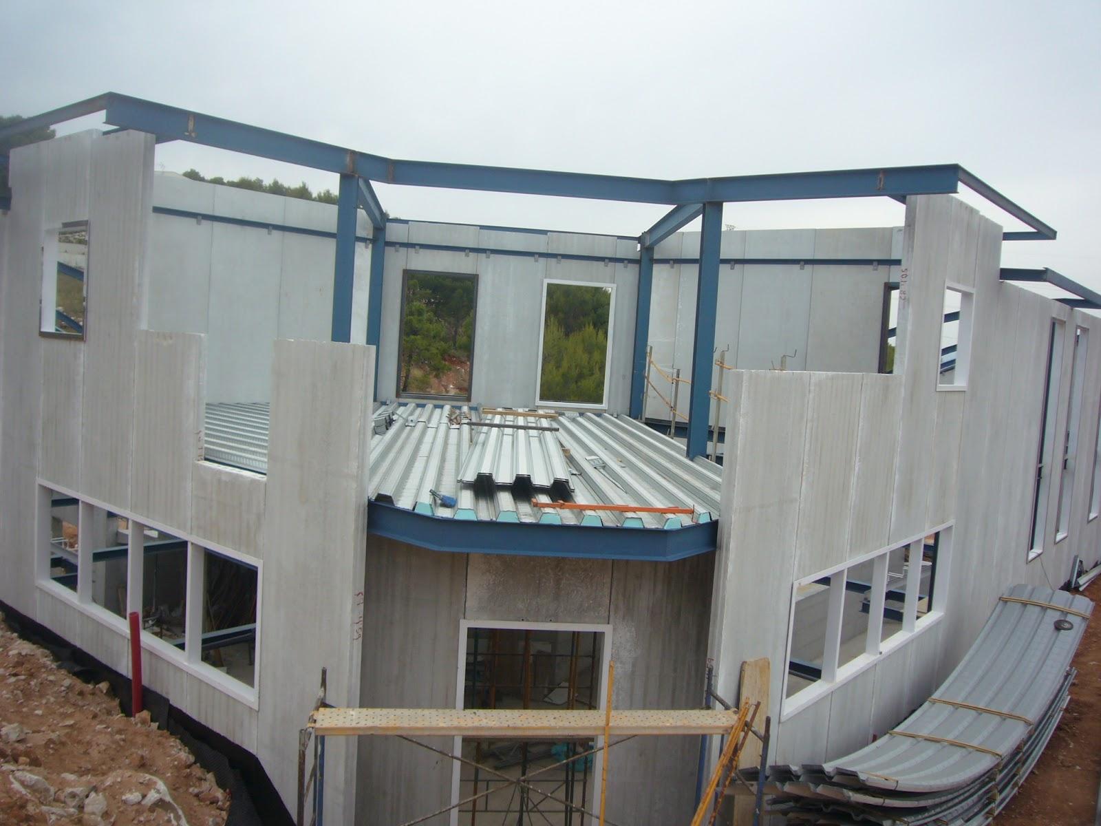 Arquisurlauro vivienda diferentes fotos del proceso de obra de vivienda unifamiliar aislada en - Estructura metalica vivienda ...