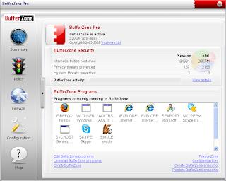 Melindungi Komputer Dengan BufferZone Pro