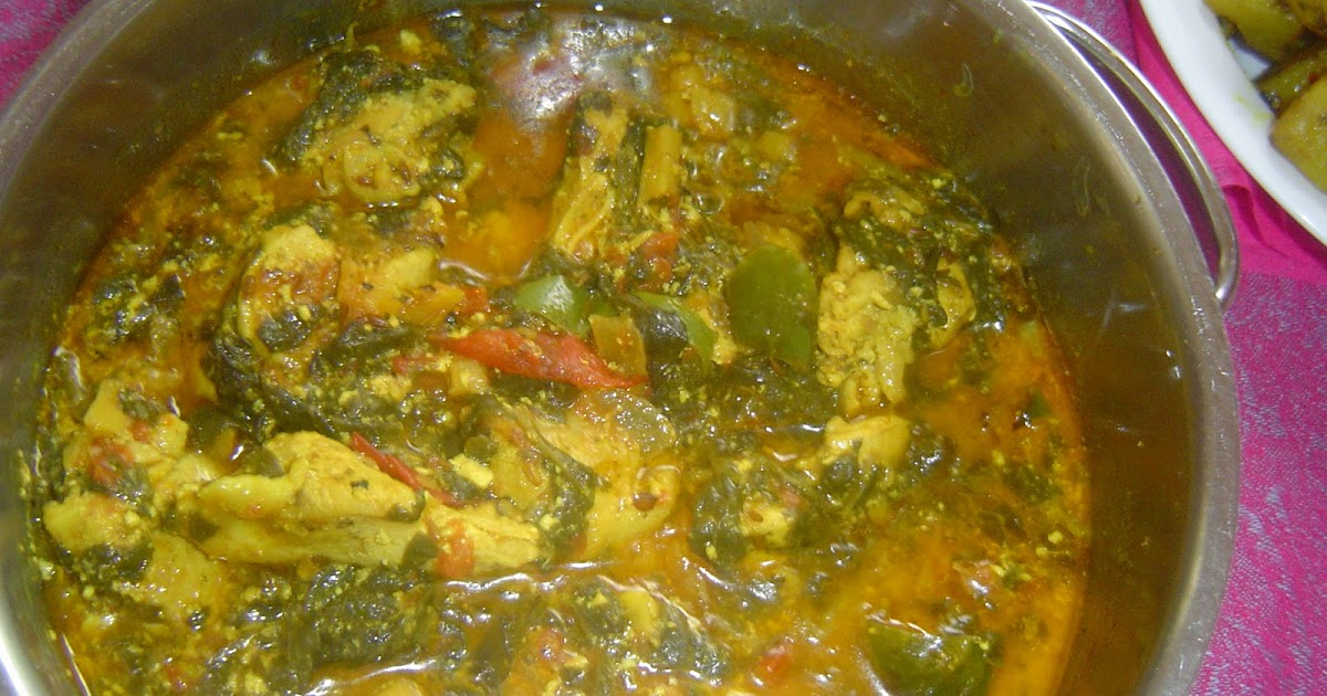 pakistani home cooking  chicken and spinach in coconut sauce curry