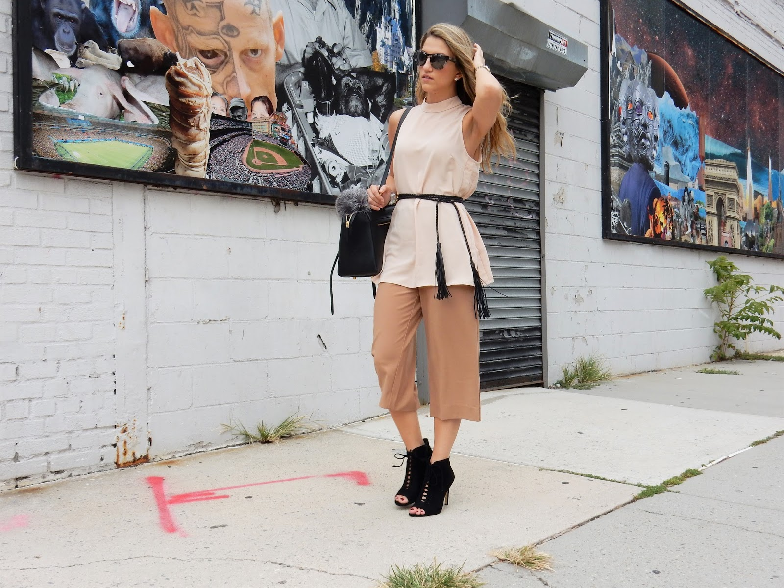 forever21 culottes, long tunic outfits, nyfw sept 2015