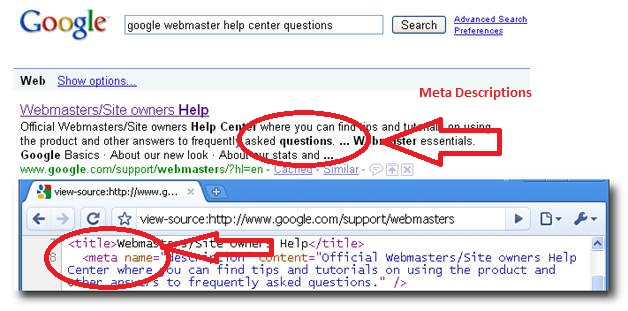 Seo meta tags keywords