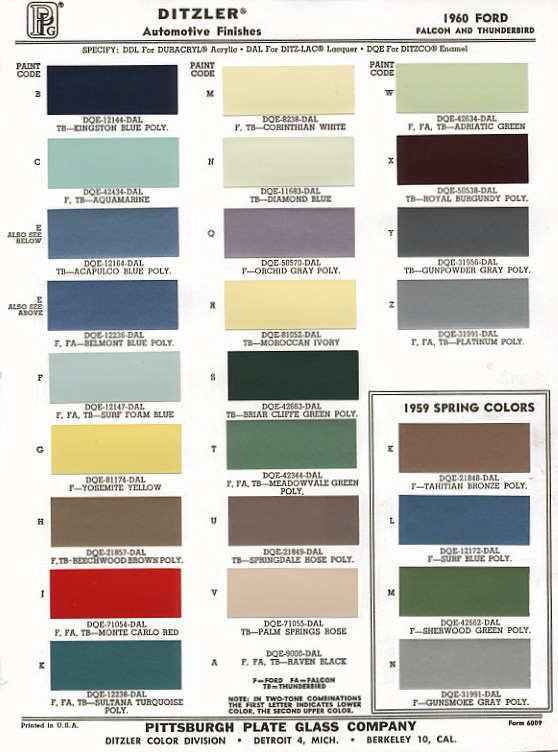 color palette from ford 1960 color combos beautiful pinterest colors color palettes and ford - Ford Truck Paint Colors