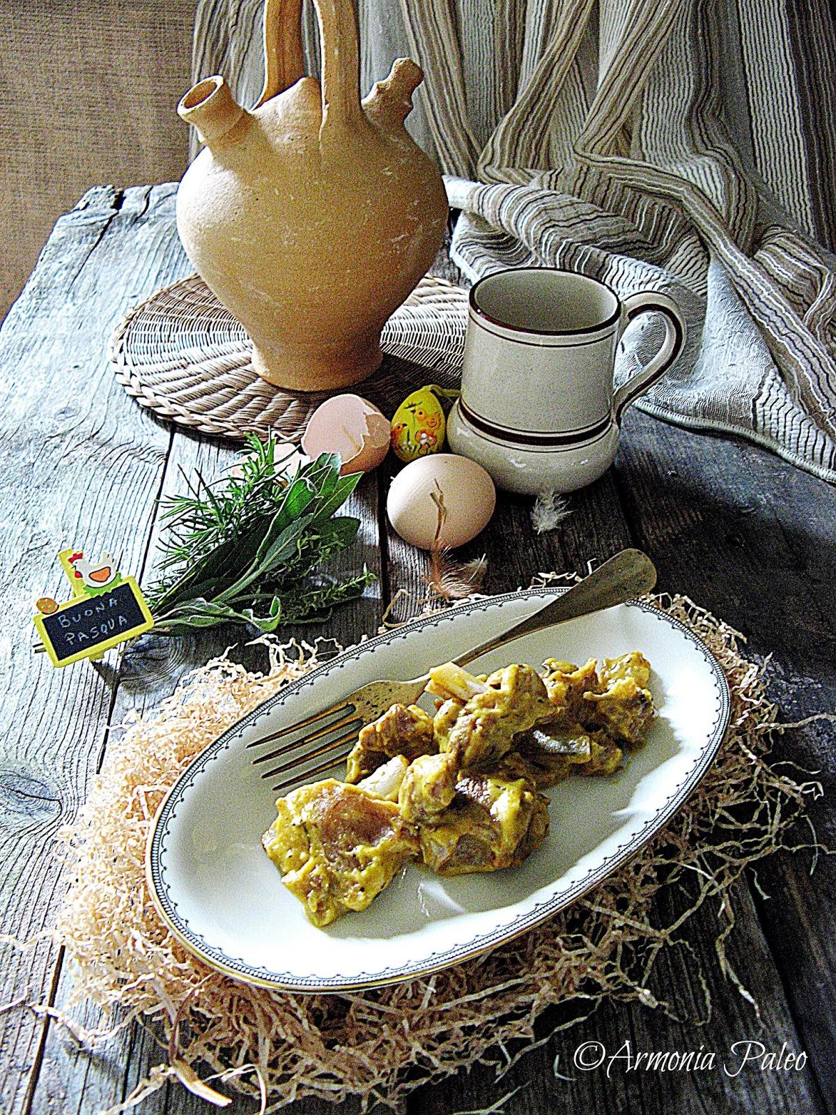 Agnello all'Abruzzese con Uova e Limone di Armonia Paleo