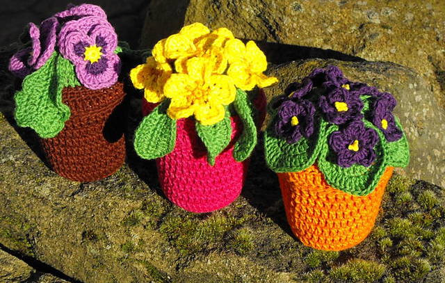 1610 flores de ganchillo ii labores en red - Hacer flores de ganchillo ...