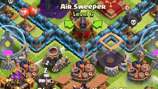 Kegunaan Air Sweeper Game Clash of Clans Android