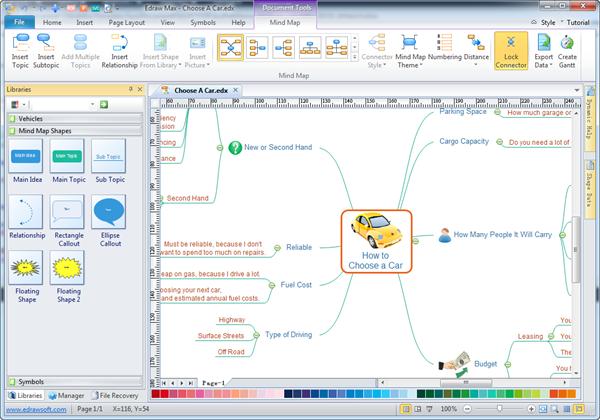 برنامج مميز لرسم الخرائط الذهنية والرسومات التوضيحية والبيانية Edraw Mind Map