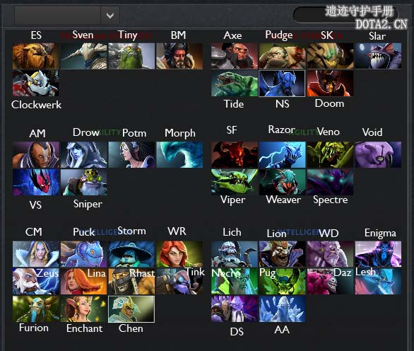 photo collection dota 2 hero list