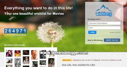 crea una lista de deseos en Wishberg