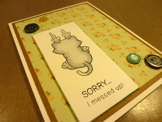 Sorry - Naughty Cat Card by Simon Hurley | Naughty Newton Stamp set by Newton's Nook Designs