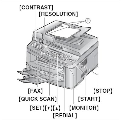 cara mengirim fax panasonic kx-flb802 secara manual