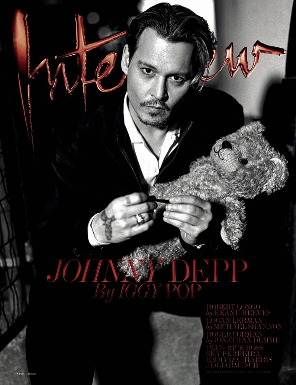 Johnny Depp covers Interview magazine April 2014