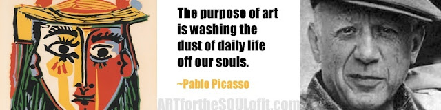 pablo picasso quote the purpose of art is washing...