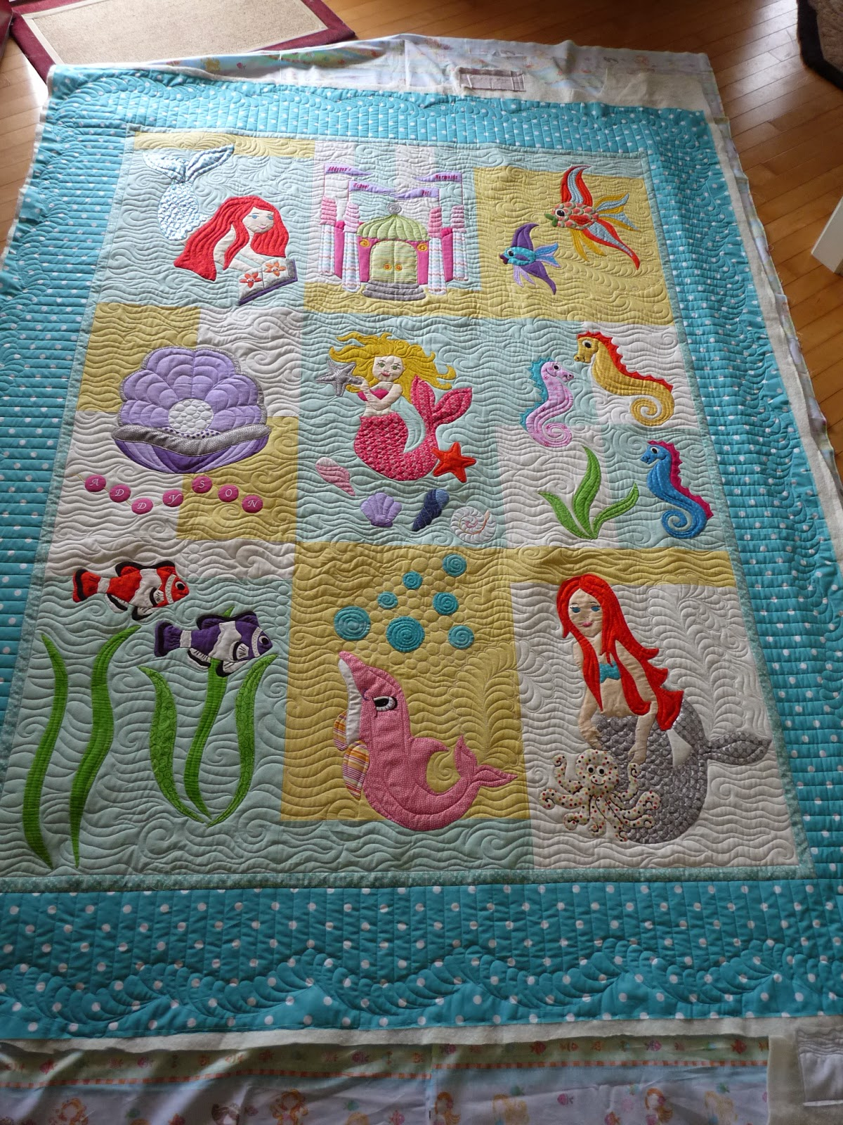 Sewing & Quilt Gallery: Mermaids for Addyson : mermaid quilts - Adamdwight.com