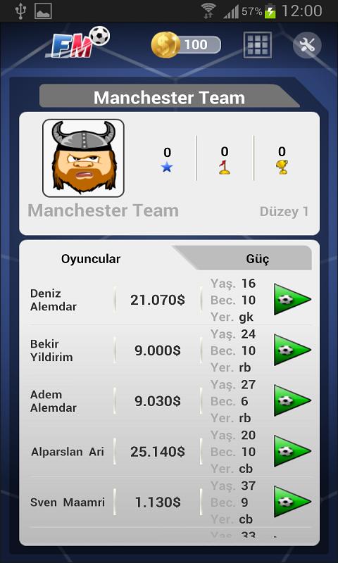 Futbol Menajerlik Oyunu 2014 Android Apk resimi 5