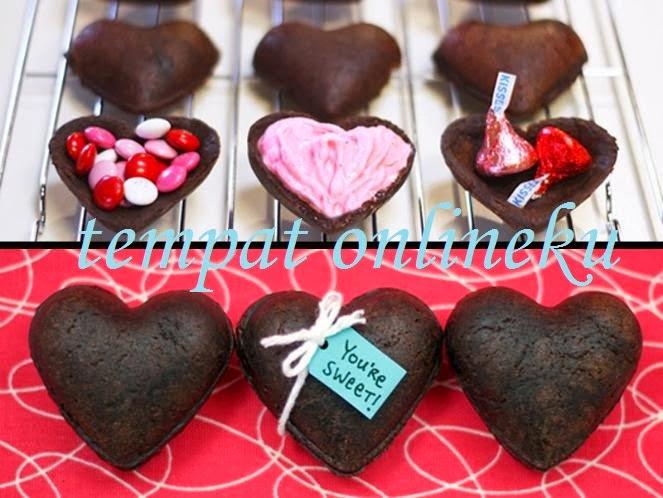 resep kue brownies valentine