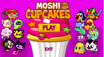 Moshi Monsters Cupcakes Game