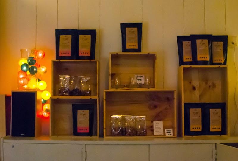 Interiror of Cafe basement in bergen norway