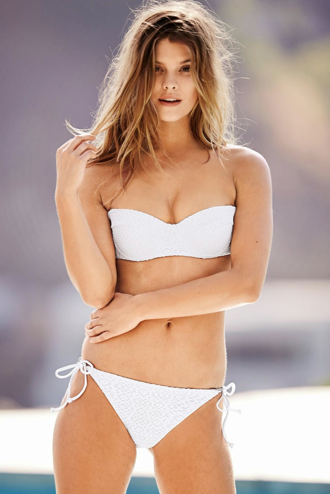 'Winter Sun' Nina Agdal poses for the Next Swimwear Fall/Winter 2014 Campaign