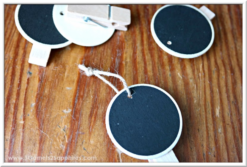 Easy DIY Advent Calendar Countdown to Christmas Chalkboard Ornaments Craft Tutorial  |  www.3Garnets2Sapphires.com