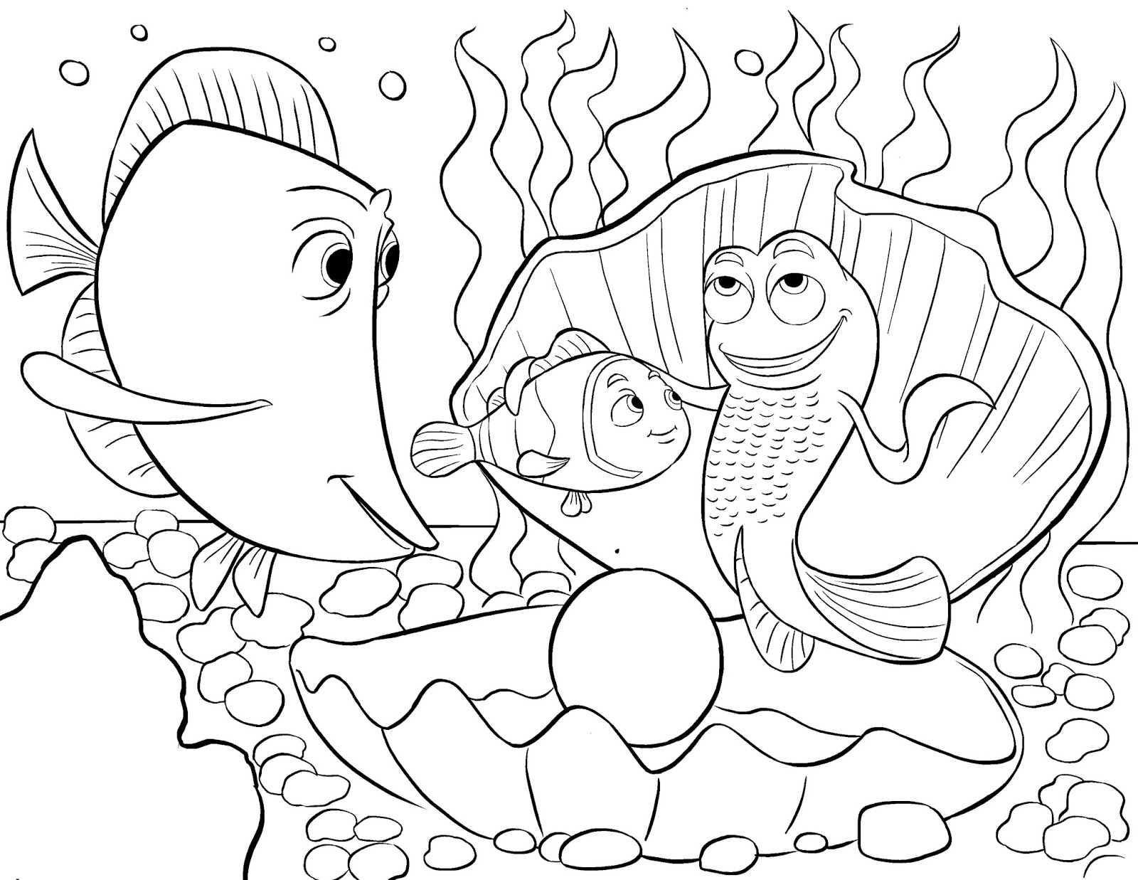disney coloring pictures for kids - Crush Finding Nemo Coloring Pages