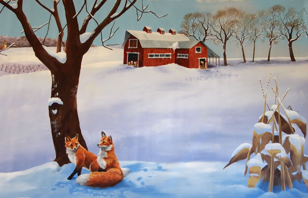 And Im Planning To Do More Winter Scenes When Done With The Murals