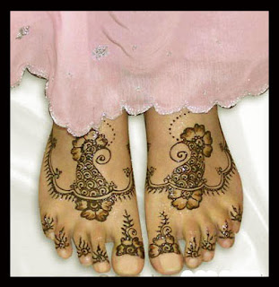 Latest Arabic Feet Mehndi Designs 2012