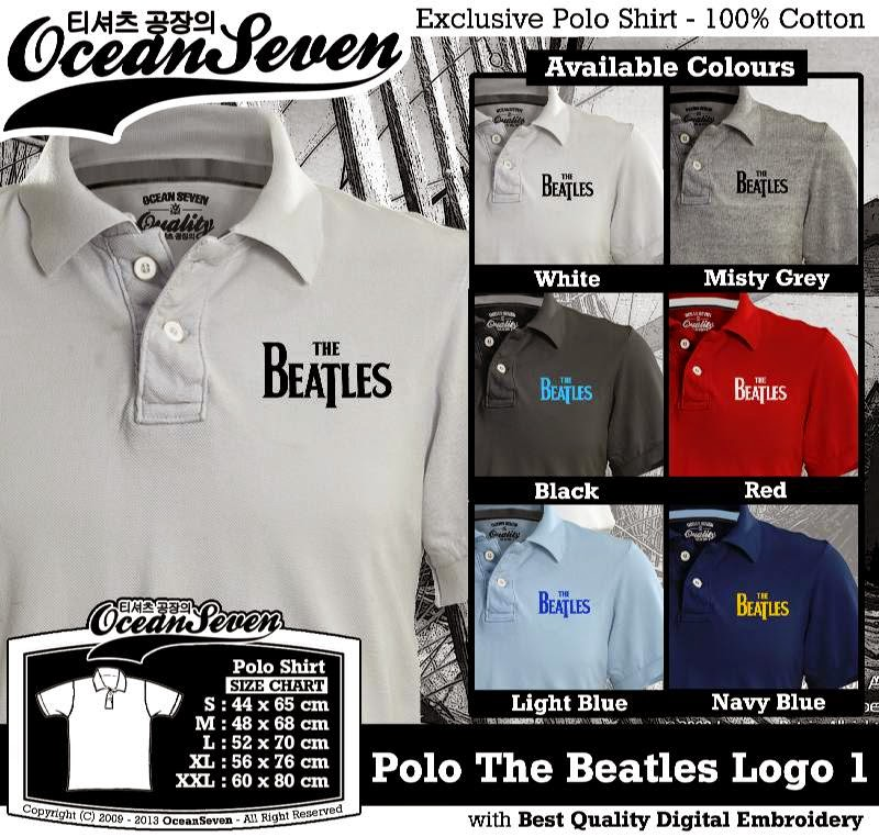 Kaos Polo The Beatles Logo 1