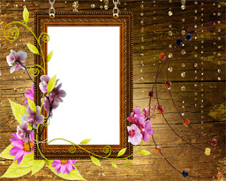 Frame Photo Orchids on Wooden
