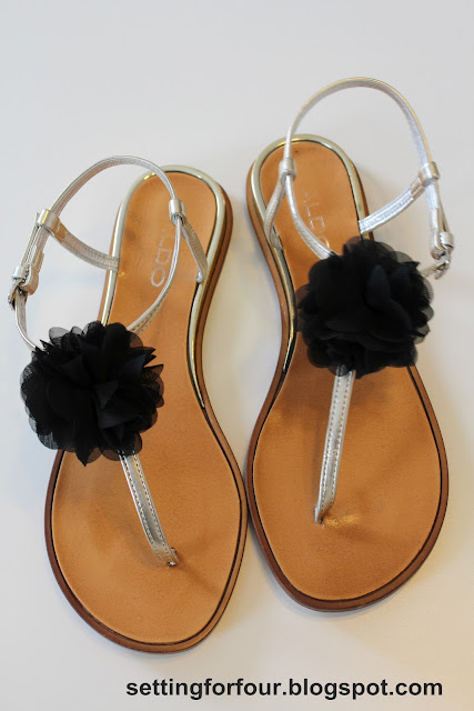 Make Flower Clips  for Flip Flops & Sandals from Setting for Four #tutorial #easy #clip #shoe