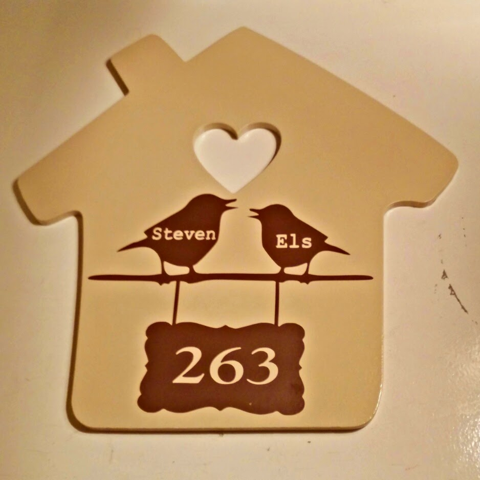 Huisnummerbord craftology corner for Huisnummerbord maken