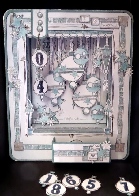 Advent Shadow Frame 1 by Clare Charvill JOFY stamps