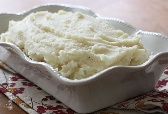 potatoes and parsnips mashed together with a little garlic sour cream ...