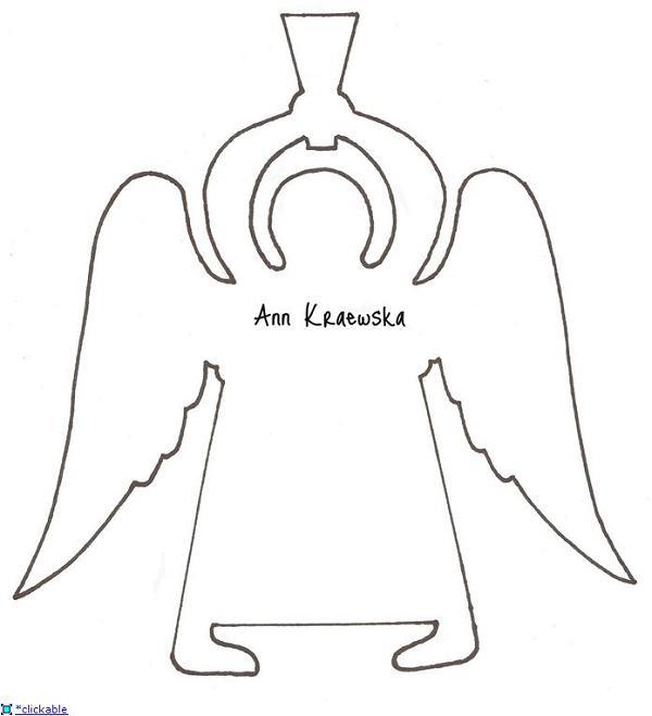 Шаблон рождественского ангела из бумаги