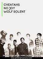 Cheatahs, No Joy + Wolf Solent