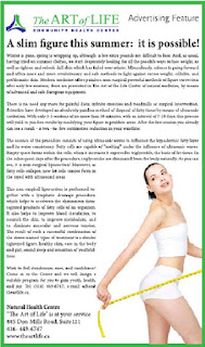 The Art of Life: A slim figure this summer: it is possible! Advertising feature in The Epoch Times
