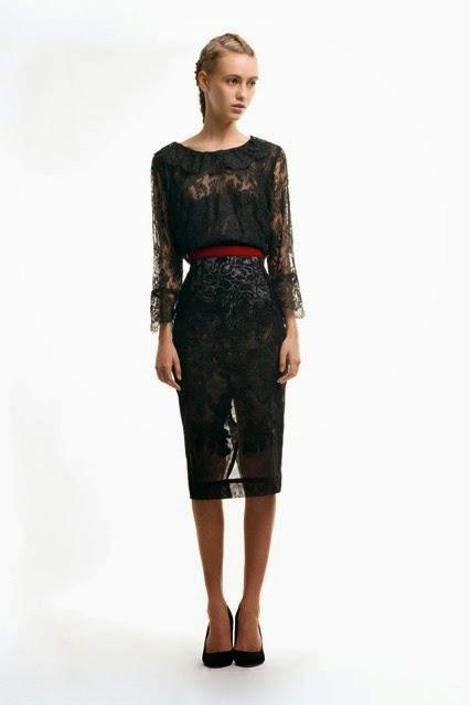 ziad ghanem black evening dress  fall winter 2014-15 collection