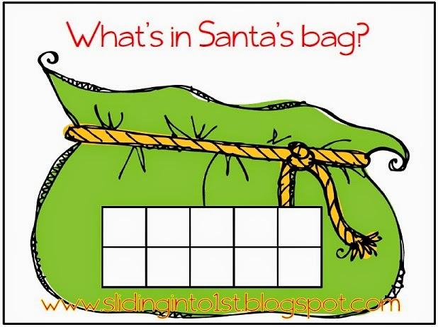 http://www.teacherspayteachers.com/Product/Whats-in-Santas-Bag-ten-frames-447768