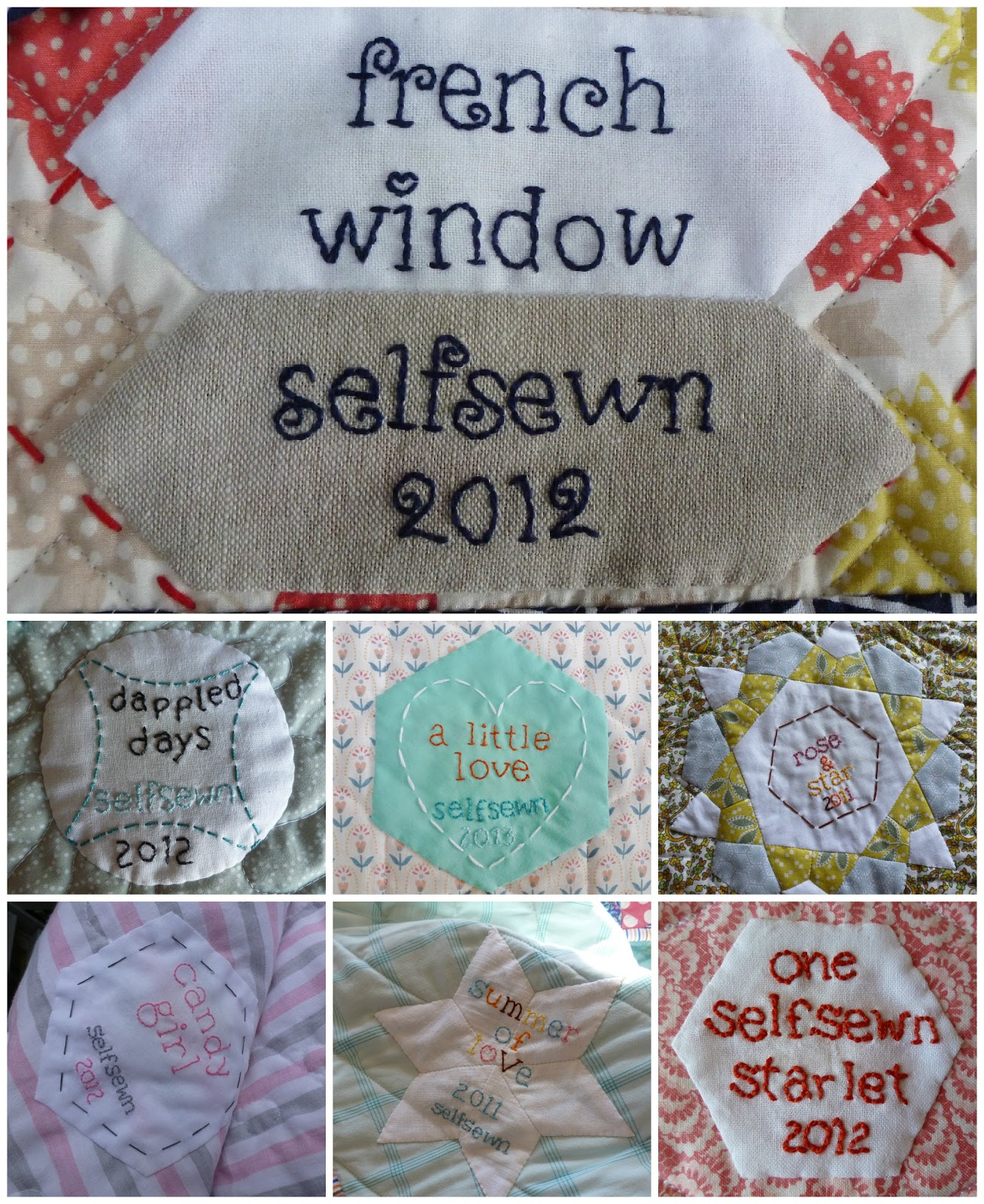 Selfsewn Hand Embroidered Quilt Label Tutorial